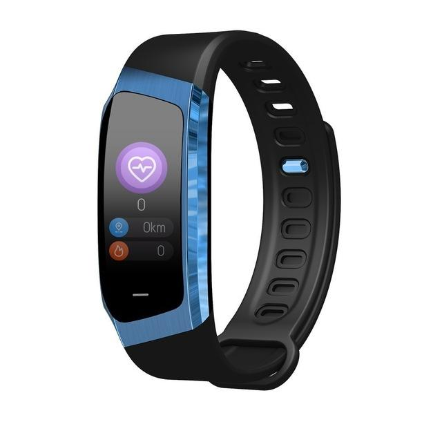 Stylish Sport Fitness Smartwatch For Android IOS Smartwatch EvoFine Blue and Black