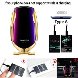 The Original Car Clamp Wireless Charging Dock Wireless Charger EvoFine Gold TYPE A