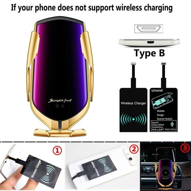 The Original Car Clamp Wireless Charging Dock Wireless Charger EvoFine Gold TYPE B