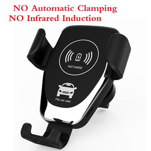 The Original Car Clamp Wireless Charging Dock Wireless Charger EvoFine Normal Silvery