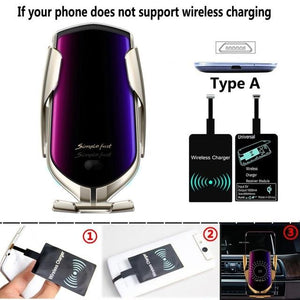 The Original Car Clamp Wireless Charging Dock Wireless Charger EvoFine Silver TYPE A