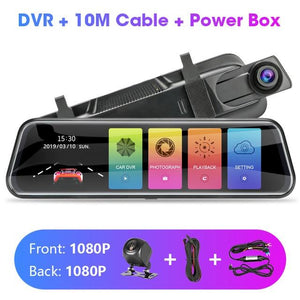 Touch Screen 1080P Car DVR Car Electronics EvoFine T29S 10m power box NO TF Card