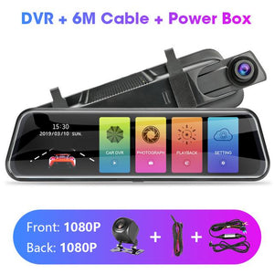 Touch Screen 1080P Car DVR Car Electronics EvoFine T29S 6m power box NO TF Card