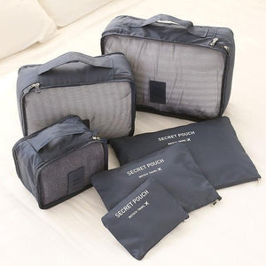 Travel™ Packing Cube System - Luggage Organizer Evofine Gray