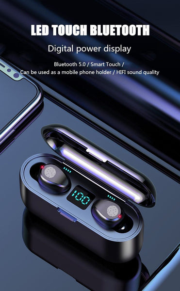 True Touch Control Wireless Earbuds
