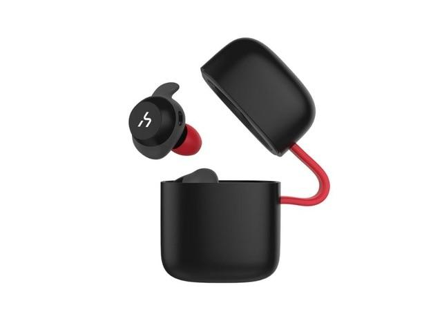 True Wireless Bluetooth Waterproof Handsfree Earphone Earphone EvoFine Black Red