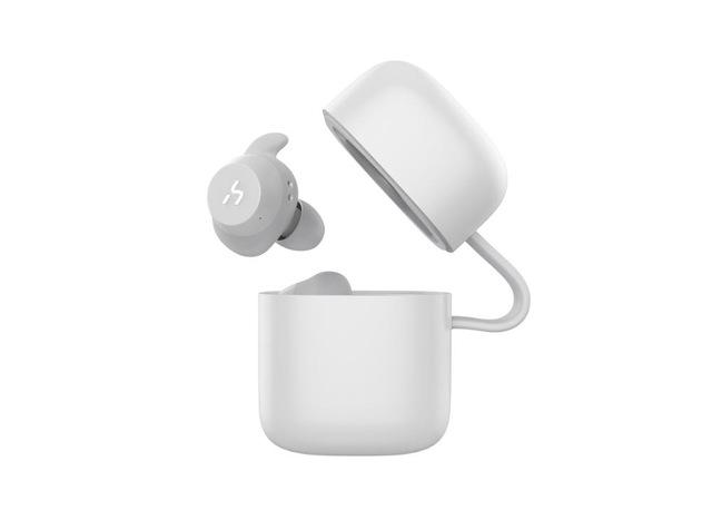 True Wireless Bluetooth Waterproof Handsfree Earphone Earphone EvoFine White