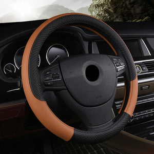 Universal Car Steering Wheel Cover evofine Brown