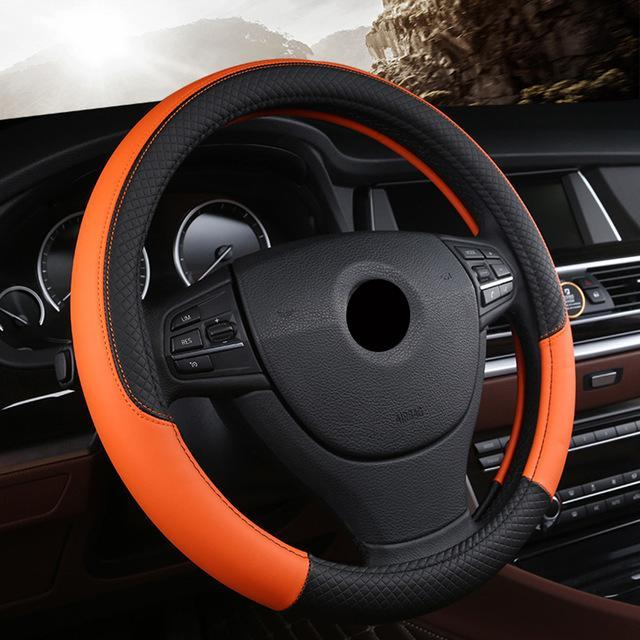 Universal Car Steering Wheel Cover evofine Orange