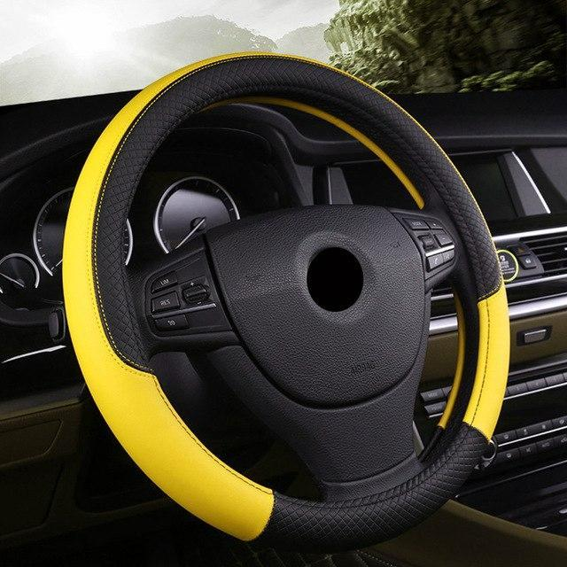 Universal Car Steering Wheel Cover evofine Yellow