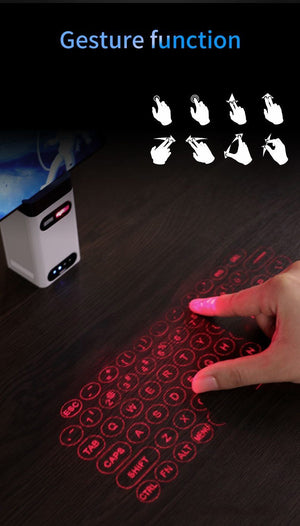 Virtual Laser Keyboard - Wireless Projection mini keyboard Virtual Keyboard EvoFine