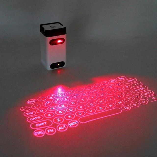 Virtual Laser Keyboard - Wireless Projection mini keyboard Virtual Keyboard EvoFine White