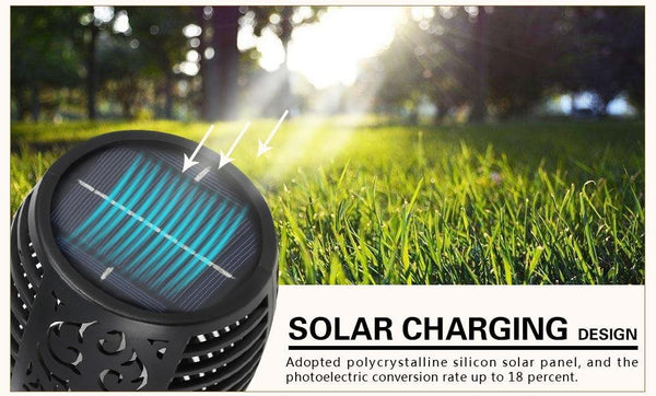 Waterproof Solar Flame Flickering Lamp