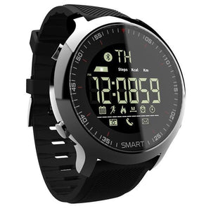 Waterproof Sports Smartwatch - Compatible with iOS & Android EvoFine Black