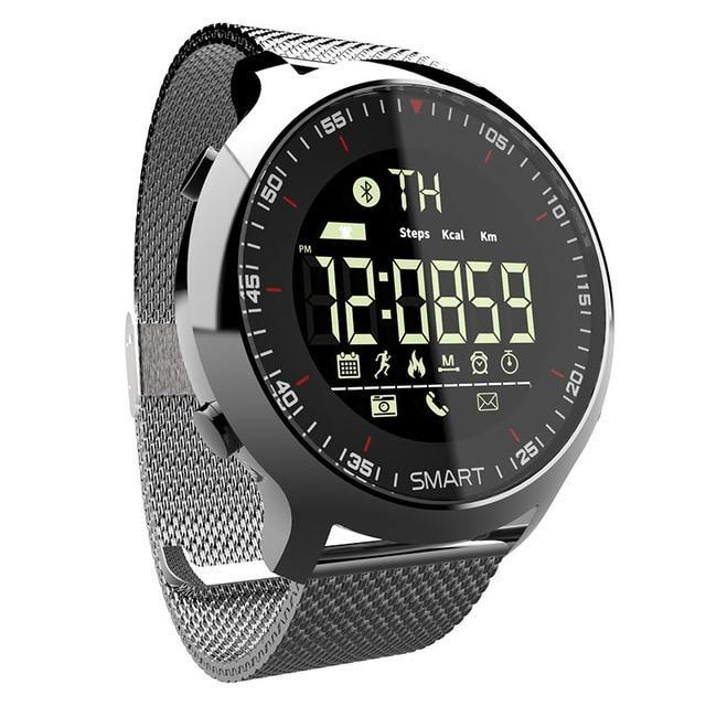 Waterproof Sports Smartwatch - Compatible with iOS & Android EvoFine Silvery