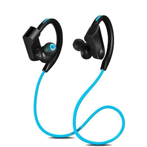 Wireless Bluetooth Sport Running Wireless Stereo Earphone Earphone EvoFine Blue