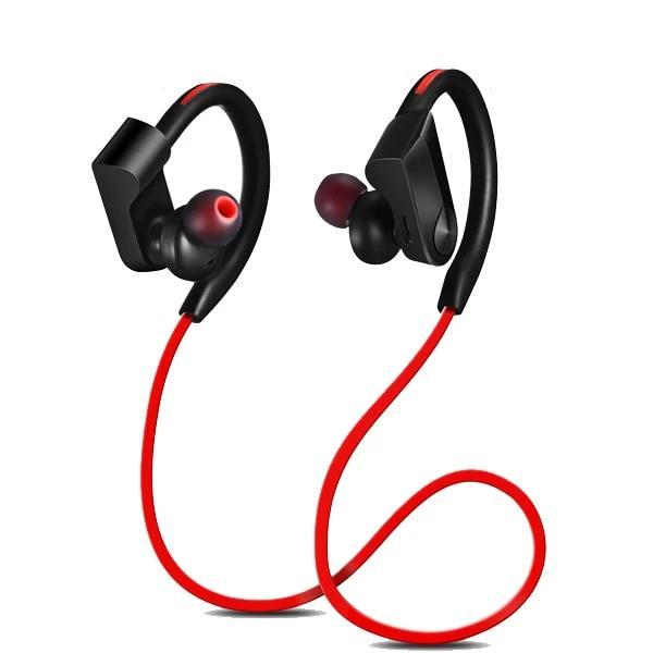 Wireless Bluetooth Sport Running Wireless Stereo Earphone Earphone EvoFine Red