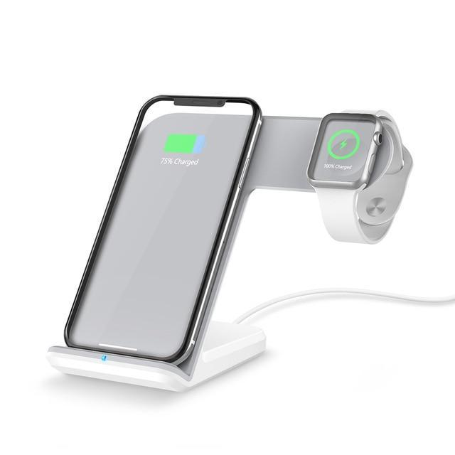 Wireless Charger Pad For iPhone or Samsung Evofine White