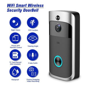 Wireless HD 720P Video Doorbell - Infrared Night Vision Motion Detection Evofine