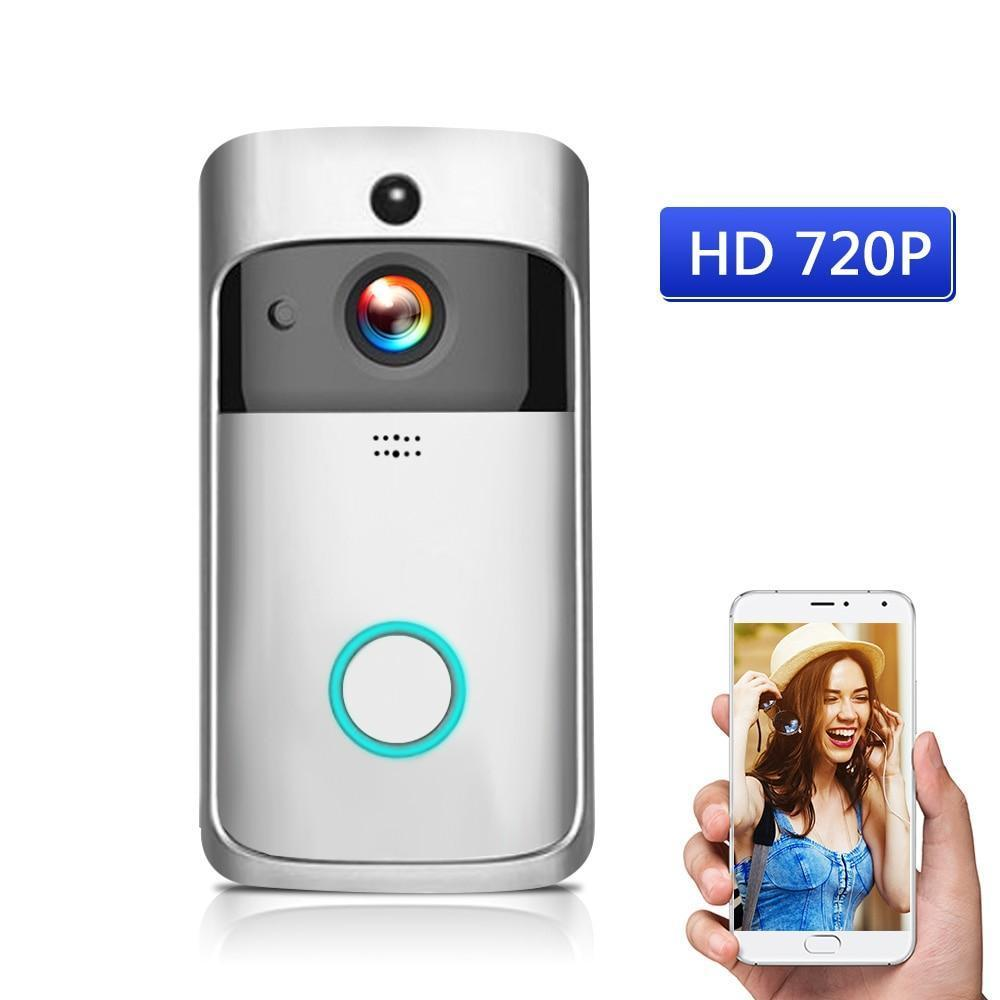 Wireless HD 720P Video Doorbell - Infrared Night Vision Motion Detection Evofine Silver