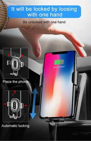 Wireless Phone Car Charger Mount - Super Fast Charging Evofine