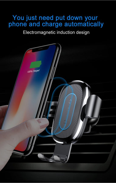 Wireless Phone Car Charger Mount - Super Fast Charging