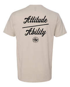 Attitude Over Ability FB - Old School SDW FF - Black logo