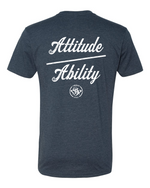 Load image into Gallery viewer, Attitude Over Ability FB - Old School SDW FF - White logo
