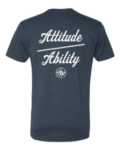 Attitude Over Ability FB - Old School SDW FF - White logo