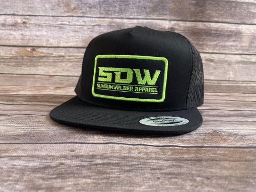 New School Patch Hat - Neon Green/Black