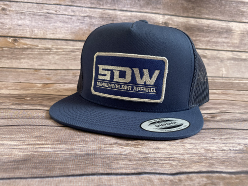 New School Patch Hat - Silver/Navy
