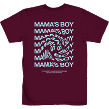 Load image into Gallery viewer, the most underrated band t-shirt maroon