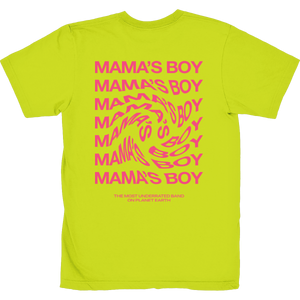 the most underrated band t-shirt neon yellow