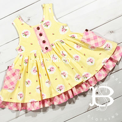 Pocket Dress - Buttercup (12m, 24m)