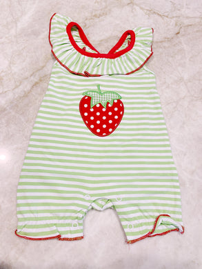 Strawberry Appliqué Romper
