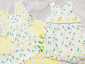 Let's Make Lemonade Ruffle Bubble (9m)