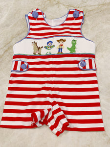 Smocked Toy Story Jon Jon (3m)