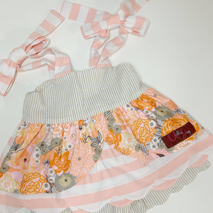 Flower Shower Scalloped Tie Shortset (12m, 18m, 4t, 4, 5)