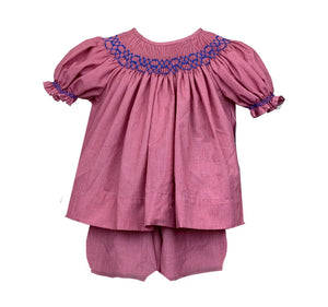 School Days - Smocked Bloomer Set