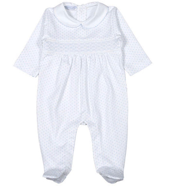 Sawyer Smocked Pima Footie