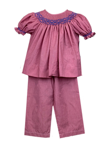 School Days - Smocked Pant Set