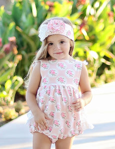 Ruffle Bubble - Shabby Rose (3m-12m, 24m)