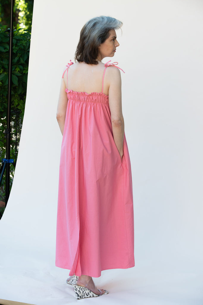 AVN, Carlotta Dress, Coral, Back
