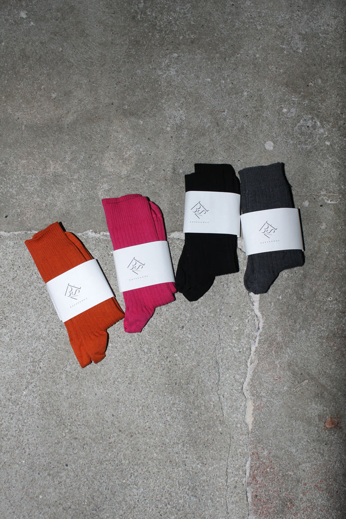 BASERANGE, Rib Ankle Socks, Several Colors