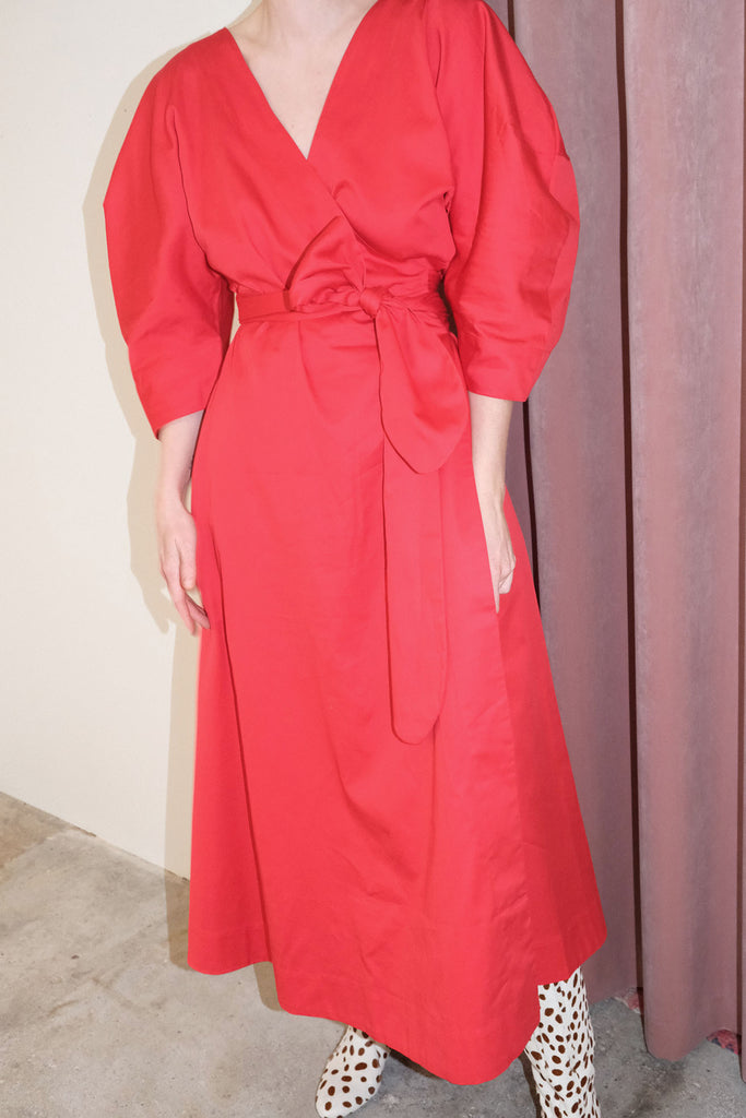 MARA HOFFMAN, Agnella Dress, Red