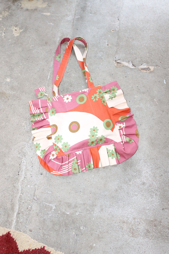 MISS KK, Ruffle Bag, Pink Pattern