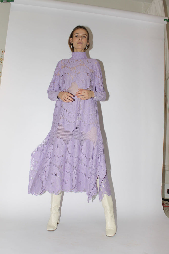 MR. LARKIN, Martine Dress, Lace, Wisteria