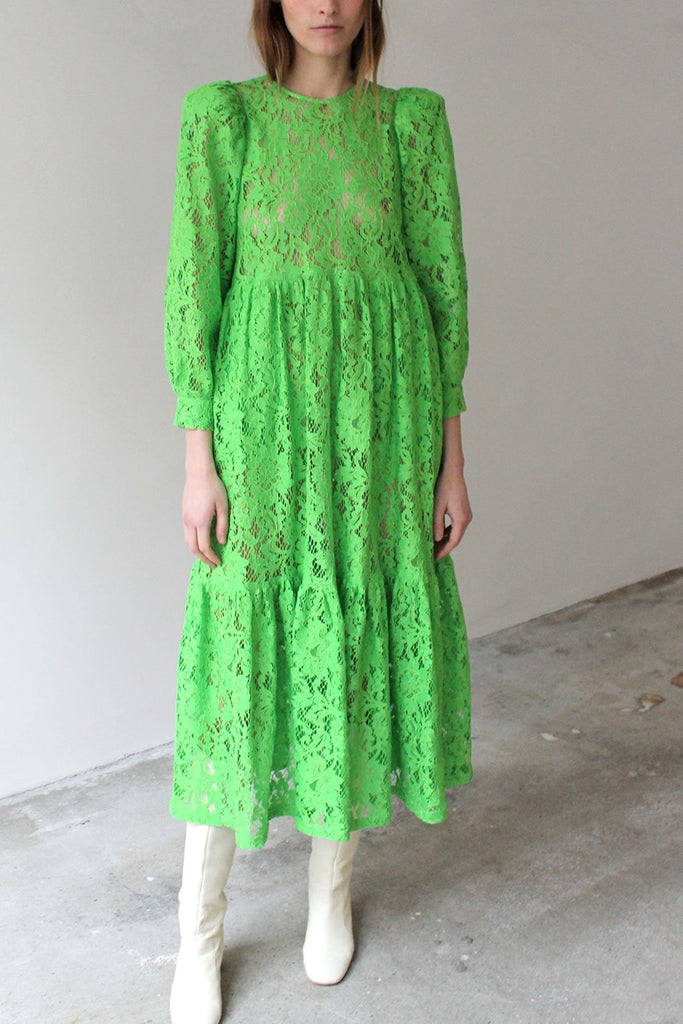 MR. LARKIN, May Dress, Lace, Lime