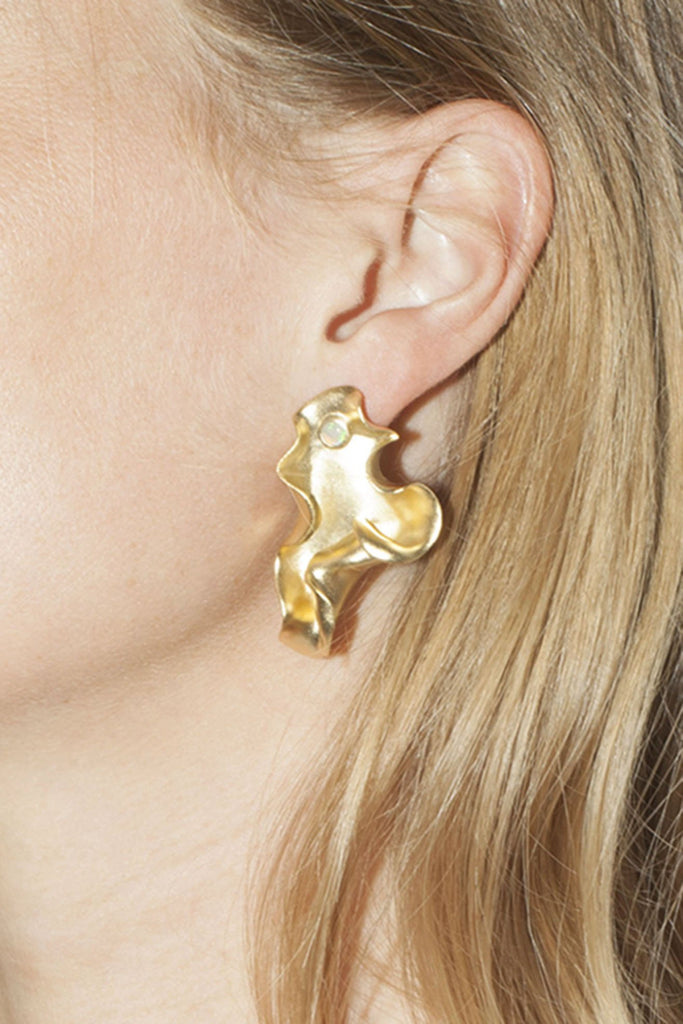 TRINE TUXEN, Karen Earrings, Gold Plated 004
