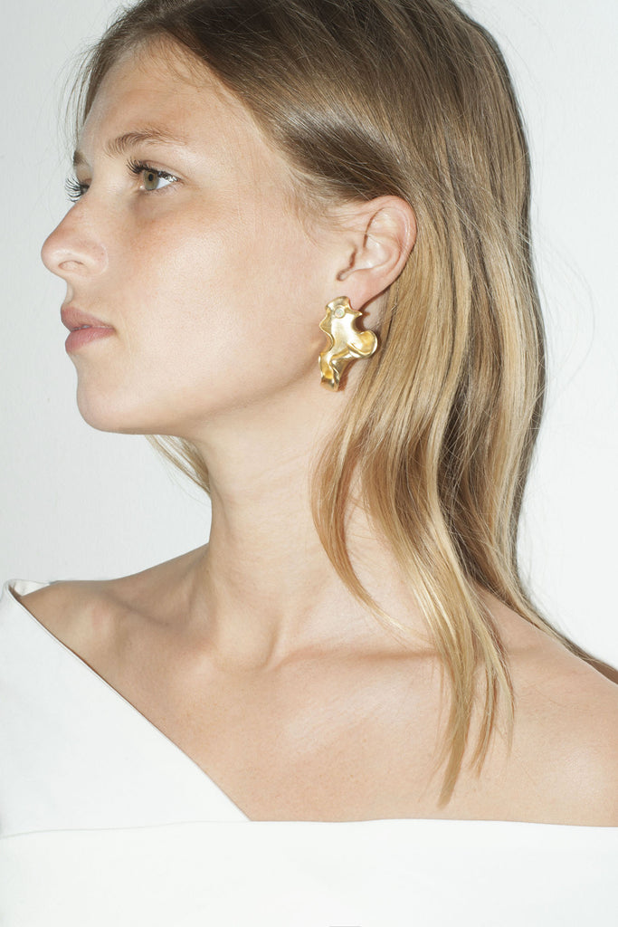 TRINE TUXEN, Karen Earrings, Gold Plated 003